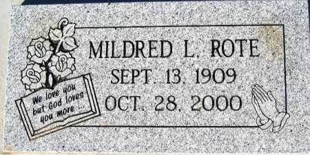 ROTE, MILDRED L - Mohave County, Arizona   MILDRED L ROTE - Arizona Gravestone Photos