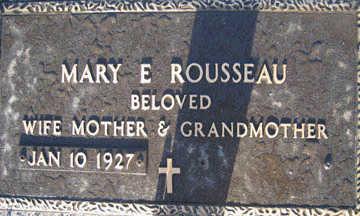 ROUSSEAU, MARY E - Mohave County, Arizona | MARY E ROUSSEAU - Arizona Gravestone Photos