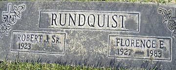 RUNDQUIST, FLORENCE E - Mohave County, Arizona | FLORENCE E RUNDQUIST - Arizona Gravestone Photos