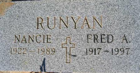 RUNYAN, FRED A - Mohave County, Arizona | FRED A RUNYAN - Arizona Gravestone Photos