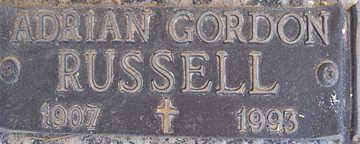 RUSSELL, ADRIAN GORDON - Mohave County, Arizona   ADRIAN GORDON RUSSELL - Arizona Gravestone Photos