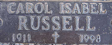 RUSSELL, CAROL ISABEL - Mohave County, Arizona | CAROL ISABEL RUSSELL - Arizona Gravestone Photos