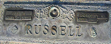RUSSELL, FRED A - Mohave County, Arizona | FRED A RUSSELL - Arizona Gravestone Photos