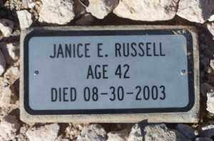 RUSSELL, JANICE E - Mohave County, Arizona | JANICE E RUSSELL - Arizona Gravestone Photos