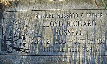 RUSSELL, LLOYD RICHARD - Mohave County, Arizona | LLOYD RICHARD RUSSELL - Arizona Gravestone Photos