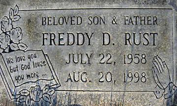 RUST, FREDDY D - Mohave County, Arizona | FREDDY D RUST - Arizona Gravestone Photos