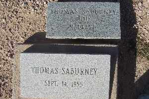 SABURNEY, THOMAS - Mohave County, Arizona | THOMAS SABURNEY - Arizona Gravestone Photos