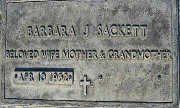 SACKETT, BARBARA J - Mohave County, Arizona | BARBARA J SACKETT - Arizona Gravestone Photos