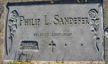 SANDEFER, PHILIP L - Mohave County, Arizona | PHILIP L SANDEFER - Arizona Gravestone Photos