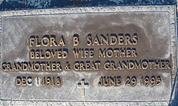 SANDERS, FLORA B - Mohave County, Arizona   FLORA B SANDERS - Arizona Gravestone Photos