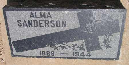 THORBECKE SANDERSON, ALMA - Mohave County, Arizona   ALMA THORBECKE SANDERSON - Arizona Gravestone Photos