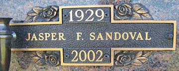 SANDOVAL, JASPER F - Mohave County, Arizona   JASPER F SANDOVAL - Arizona Gravestone Photos