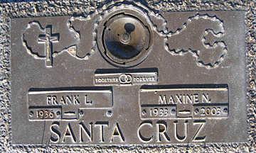 SANTA CRUZ, FRANK L - Mohave County, Arizona   FRANK L SANTA CRUZ - Arizona Gravestone Photos