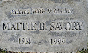 SAVORY, MATTIE B - Mohave County, Arizona | MATTIE B SAVORY - Arizona Gravestone Photos