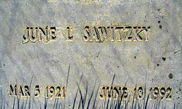 SAWITZKY, JUNE L - Mohave County, Arizona | JUNE L SAWITZKY - Arizona Gravestone Photos