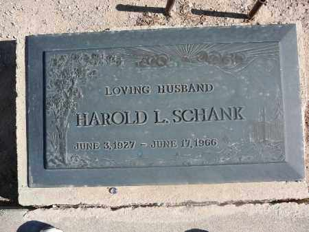 SCHANK, HAROLD L - Mohave County, Arizona | HAROLD L SCHANK - Arizona Gravestone Photos