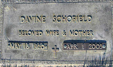 SCHOFIELD, DAVINE - Mohave County, Arizona   DAVINE SCHOFIELD - Arizona Gravestone Photos