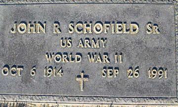 SCHOFIELD SR., JOHN R. - Mohave County, Arizona | JOHN R. SCHOFIELD SR. - Arizona Gravestone Photos