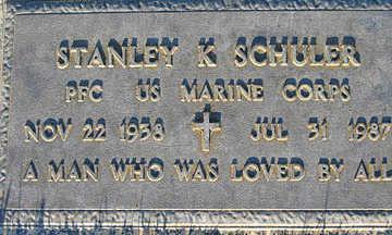 SCHULER, STANLEY K - Mohave County, Arizona | STANLEY K SCHULER - Arizona Gravestone Photos