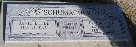 SCHUMACHER, JANIE ETHEL - Mohave County, Arizona   JANIE ETHEL SCHUMACHER - Arizona Gravestone Photos