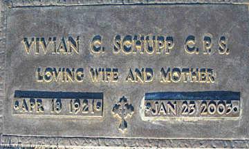 SCHUPP, VIVIAN C - Mohave County, Arizona | VIVIAN C SCHUPP - Arizona Gravestone Photos
