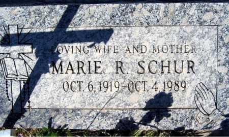 SCHUR, MARIE R - Mohave County, Arizona | MARIE R SCHUR - Arizona Gravestone Photos