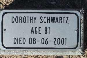 SCHWARTZ, DOROTHY - Mohave County, Arizona | DOROTHY SCHWARTZ - Arizona Gravestone Photos