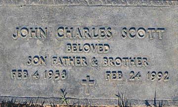 SCOTT, JOHN CHARLES - Mohave County, Arizona | JOHN CHARLES SCOTT - Arizona Gravestone Photos
