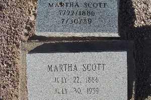 SCOTT, MARTHA - Mohave County, Arizona | MARTHA SCOTT - Arizona Gravestone Photos