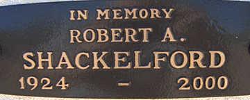SHACKELFORD, ROBERT A - Mohave County, Arizona | ROBERT A SHACKELFORD - Arizona Gravestone Photos