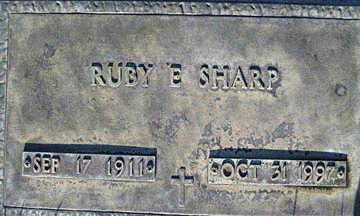 SHARP, RUBY E - Mohave County, Arizona   RUBY E SHARP - Arizona Gravestone Photos