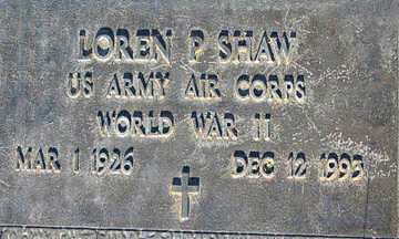 SHAW, LOREN P - Mohave County, Arizona | LOREN P SHAW - Arizona Gravestone Photos
