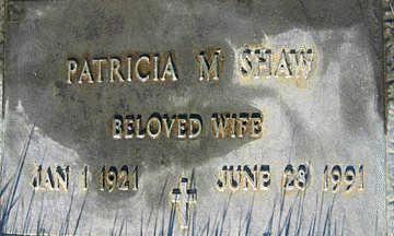 SHAW, PATRICIA M - Mohave County, Arizona   PATRICIA M SHAW - Arizona Gravestone Photos