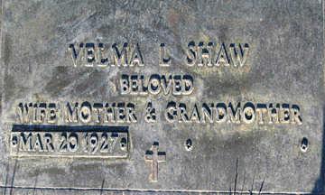 SHAW, VELMA L - Mohave County, Arizona | VELMA L SHAW - Arizona Gravestone Photos