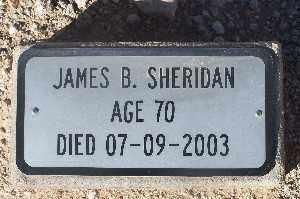 SHERIDAN, JAMES B - Mohave County, Arizona | JAMES B SHERIDAN - Arizona Gravestone Photos