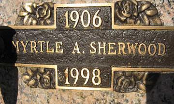 SHERWOOD, MYRTLE A - Mohave County, Arizona | MYRTLE A SHERWOOD - Arizona Gravestone Photos