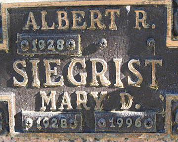 SIEGRIST, MARY D - Mohave County, Arizona | MARY D SIEGRIST - Arizona Gravestone Photos