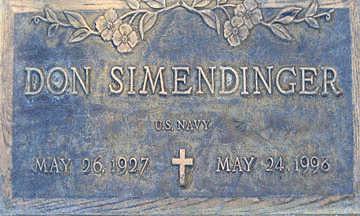 SIMENDINGER, DON - Mohave County, Arizona | DON SIMENDINGER - Arizona Gravestone Photos