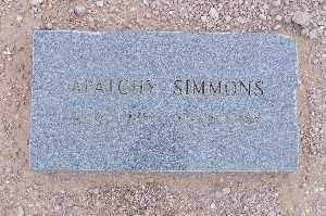 SIMMONS, APAICHY - Mohave County, Arizona | APAICHY SIMMONS - Arizona Gravestone Photos