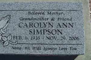 SIMPSON, CAROLYN ANN - Mohave County, Arizona | CAROLYN ANN SIMPSON - Arizona Gravestone Photos