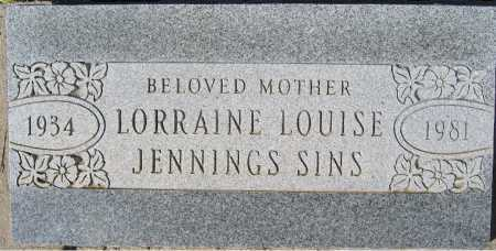 JENNINGS SINS, LORRAINE LOUISE - Mohave County, Arizona | LORRAINE LOUISE JENNINGS SINS - Arizona Gravestone Photos