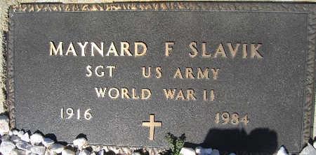 SLAVIK, MAYNARD F - Mohave County, Arizona | MAYNARD F SLAVIK - Arizona Gravestone Photos