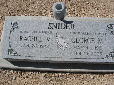 SNIDER, RACHEL V. - Mohave County, Arizona | RACHEL V. SNIDER - Arizona Gravestone Photos