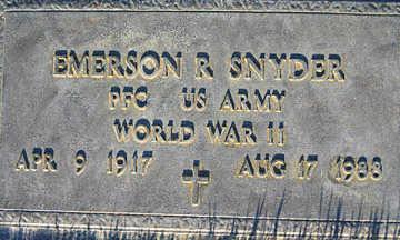 SNYDER, EMERSON R - Mohave County, Arizona | EMERSON R SNYDER - Arizona Gravestone Photos