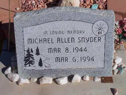 SNYDER, MICHAEL ALLEN - Mohave County, Arizona | MICHAEL ALLEN SNYDER - Arizona Gravestone Photos