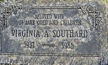 SOUTHARD, VIRGINIA A - Mohave County, Arizona | VIRGINIA A SOUTHARD - Arizona Gravestone Photos