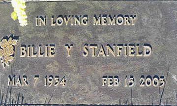 STANFIELD, BILLIE Y - Mohave County, Arizona   BILLIE Y STANFIELD - Arizona Gravestone Photos