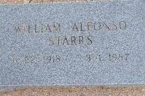 STARRS, WILLIAM ALFONSO - Mohave County, Arizona   WILLIAM ALFONSO STARRS - Arizona Gravestone Photos