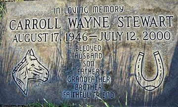 STEWART, CARROLL WAYNE - Mohave County, Arizona   CARROLL WAYNE STEWART - Arizona Gravestone Photos