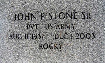 STONE SR., JOHN P - Mohave County, Arizona   JOHN P STONE SR. - Arizona Gravestone Photos